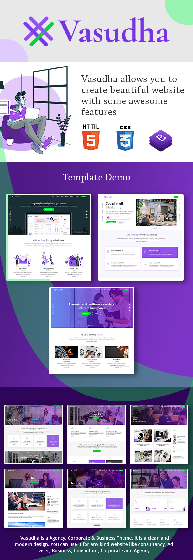 Vasudha - Multipurpose Agency Template - 1